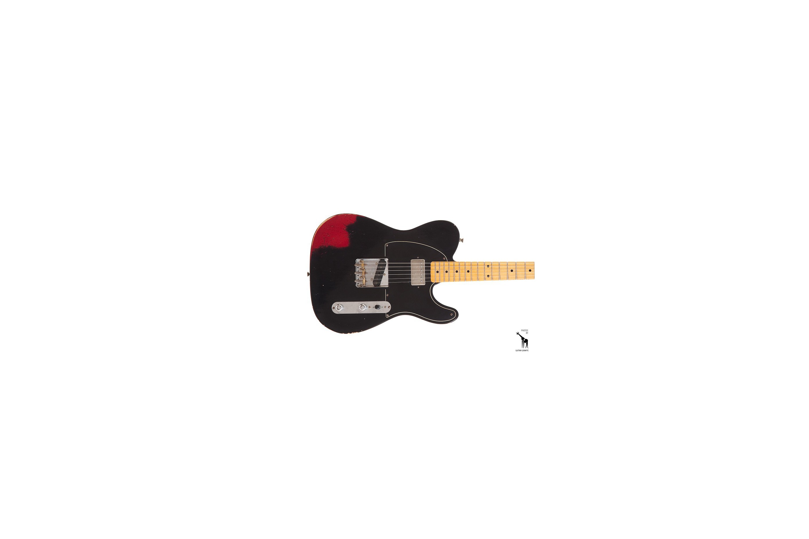 Fender '52 Telecaster Relic Black Over Candy Apple Red